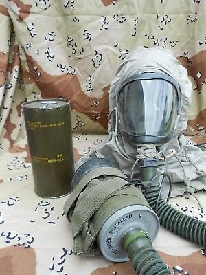 M10A1 Gas Mask Filter for M-24 and M-25 Vehicle Crewman Masks (NOS) *FILTER ONLY