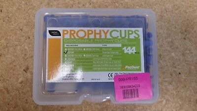 Dental Pac-Dent Screw Type Torque Disposable Prophy Cups Blue 144/package 251-W