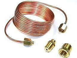 """New Sunpro Cp7584 Replacement 1/8 """" Copper Line Tubing Kit 6' Oil Gauge"""