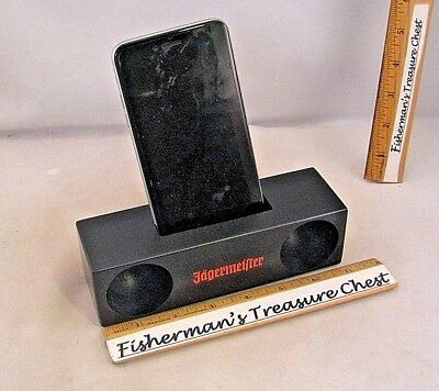Jagermeister Wood Amplifier And Holder For Cell Phone - 2016 Promo - Brand New