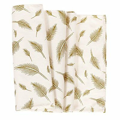 ling's moment Glitter Gold Leaves Pattern Bohemian Table Runner 12 x 72 Inches,