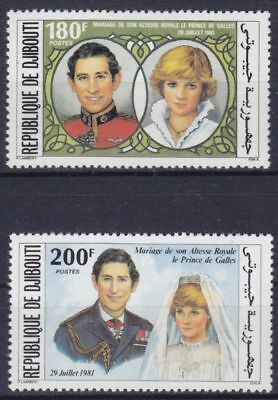 Dschibuti Mi-Nr. 304 -  305 **, Royal Wedding / Charles & Diana (7,50 ME)