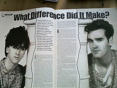 Morrissey & Marr Ex The Smiths 1992 5 Page Article From Music Magazine