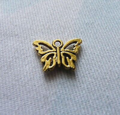 10Pcs Butterfly Charms for Necklaces Pendant Bracelet Supplies Gold/Silver Tone