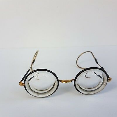 Antique Spectacles Reading Very Rare Glasses 1900's Gold Plated Frames