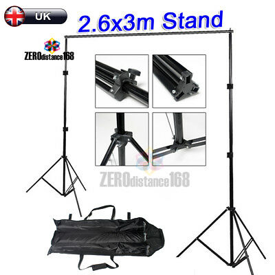 2.5X3M Portable Photography Studio Lighting Backdrop Stand for Muslin Backdrops