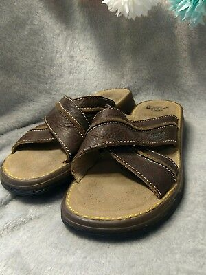 a646d0b39680 DR. MARTENS WOMEN S Size 6 Sandals Thong Style Brown Leather Shoes ...