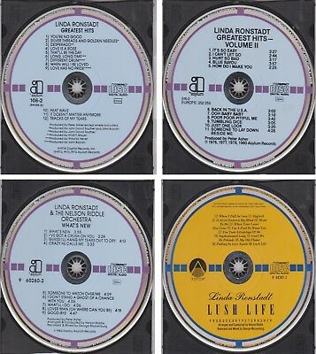 LINDA RONSTADT Greatest Hits Vol 1 & 2 What's New Lush Life w/GERMANY TARGET Lot