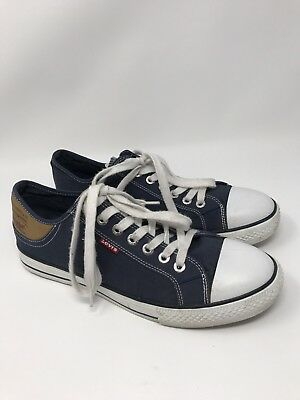 6a54e1ab55d1 MEN S LEVIS Jordy Navy Blue Fashion Sneakers Canvas Shoes Size 9.5 ...