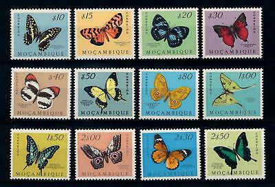 [70755] Mozambique 1953 Insects Butterflies Incompl. Set 12 Values MNH