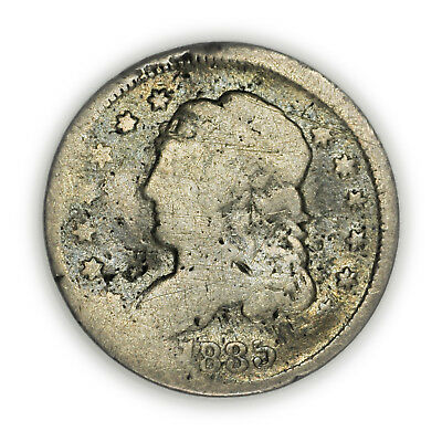 1835 Capped Bust Half Dime, Tiny, Circulated, Early Type Silver Coin [3705.04]