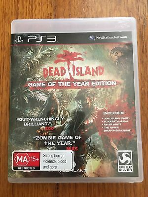 DEAD ISLAND Game Of The Year Edition Sony Playstation 3 PS3 Game + Booklet PAL