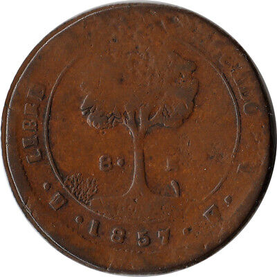 1857 Honduras 8 Reales Large Coin KM#21a