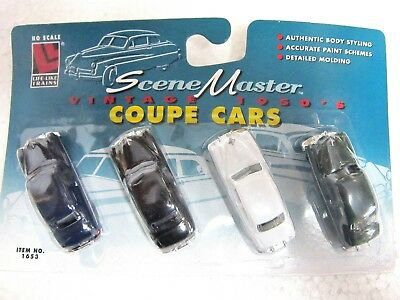 LIFE LIKE #1653 Diecast  VINTAGE1950's COUPE CARS 1:87 HO scale New 4 in pack