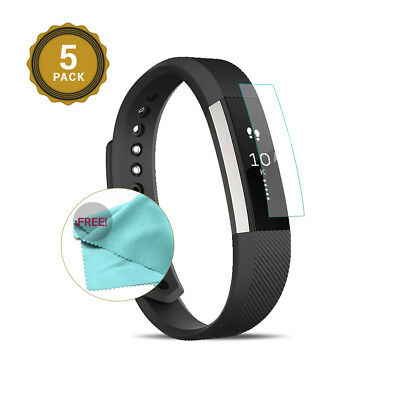 EXINOZ® NEW Fitbit Alta HR Screen Protector PACK of 5 I High-quality Protection