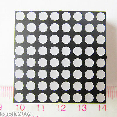 1pc 8x8 Dot Matrix 3.7mm Dia. Red LED Display Common cathode 1.8V 10mcd 640nm