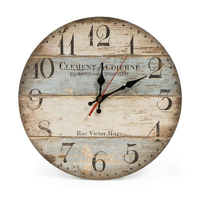 12 Inch Vintage Wall Clock Rustic Decor Silent Non Ticking Wall Clock Quartz