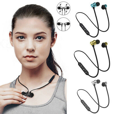 Wireless Bluetooth 4.2 Magnetic Headphones Sport In-Ear Earphone Headset w/Mic
