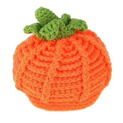 Baby Infant Pumpkin Bernat Hat Cap Crochet Knitting Costume Soft Adorable C Z4K4