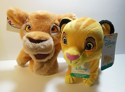 Disney BABY Walking Roaring Lion King SIMBA Plush & Vintage Kiara Hand Puppet