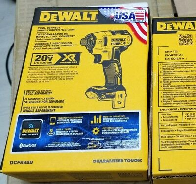 DEWALT DCF888B 20V Max XR Brushless Tool Connect Impact Driver Kit, Baretool NEW