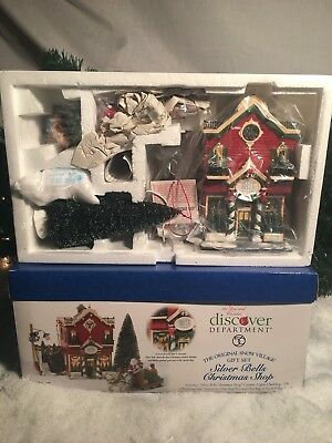 New Department 56 Snow Village Series Silver Bells Christmas Shop #55040