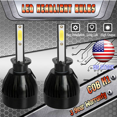H1 CREE LED Headlight Bulbs Kit for Hyundai Sonata Elantra High Beam Lamp 6000K