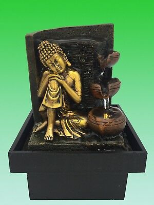 NEW Serenity Buddha Water Feature - Indoor Water fountain (Pump LED)