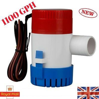 1100GPH Marine Bilge Pump Submersible Water Pump 12V Electric Yacht Boat