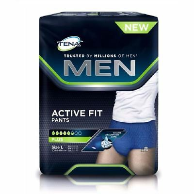 Tena Hommes Pantalons Active Fit Plus - Grand 8 Paquet 1 2 3 6 12 Packs