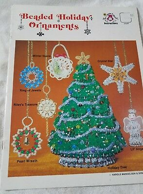 Vintage Beaded Holiday Ornaments Pattern  And I Made It Myself Beading Christmas
