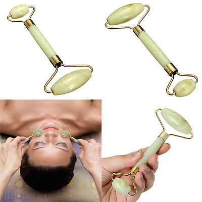 Jade Face Massage Roller Beauty Tool Facial Eye Neck Anti Ageing Therapy AU