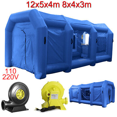 8M/ 12M Portable Giant Cloth Inflatable Tent Workstation Spray Paint 2 Blowers