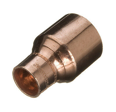 Copper plumbing pipe REDUCING reducer coupler end feed