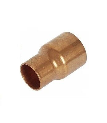Copper plumbing pipe fitting reducing reducer end feed