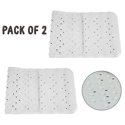 Non Slip Long And Square Bath Shower Rubber Mat Bathtub Insert With Suction Cups