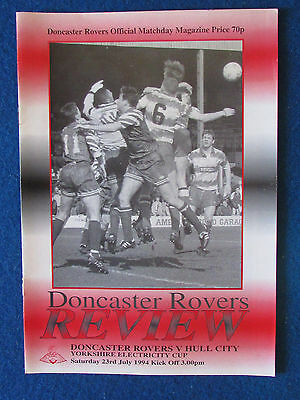 Doncaster Rovers v Hull City - 23/7/94 - Yorkshire Cup Programme - Friendly