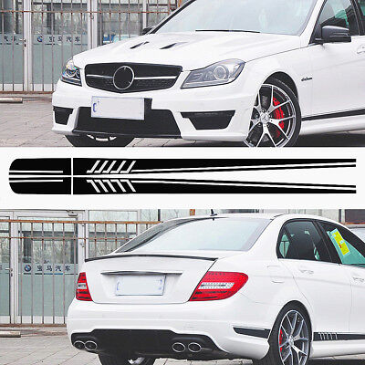 Cool Stripe Side Sticker Decals Black Car DIY For Mercedes/Benz C Class W204