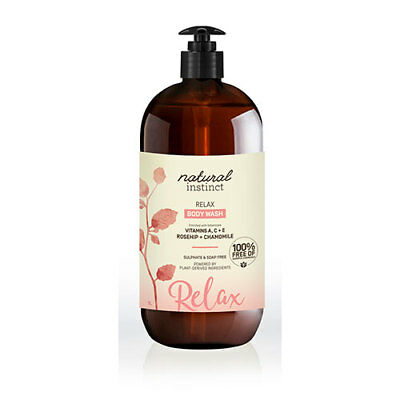 NEW Natural Instinct Body Wash Relaxing Lavender And Rosehip 1 litre