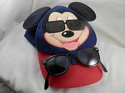 Disney Parks Mickey Mouse baseball cap with Mouse ears youth & sunglasses
