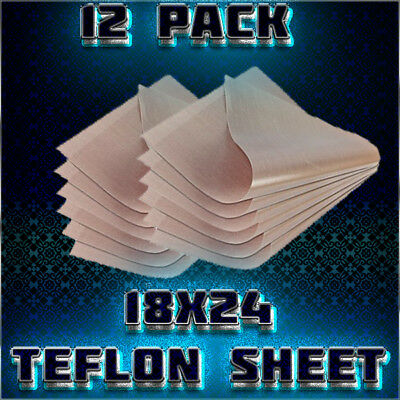 12 Pack  Reusable Thick Teflon Sheet for Heat Press 18X24   5 mil (0.005 inch)