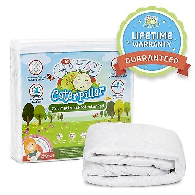 Luxuriously Soft & Quilted Baby Crib Mattress Protector Pad | 100% Waterproof...