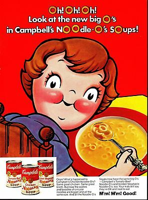 Print Ad~Vintage~1974~Campbell's Chicken Noodle Soup~F800