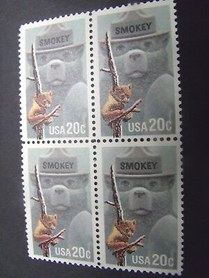 US Postage Stamps 1984 Smokey Bear Fire Prevention Scott 2096 4-20c