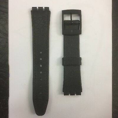 Brand New Black Swatch Irony Resin Style Watch Strap 17mm and 14mm