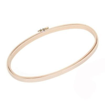"""Oval Quilting Embroidery Hoop - 9"""" - Wooden Needlecraft Tool - Hand Sew Craft"""