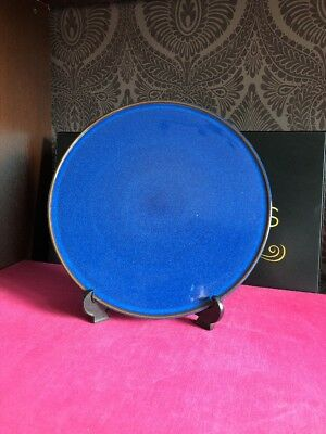 Denby Imperial Blue / Midnight Pizza Round Serving Plate Platter 12.5""