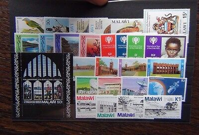 Malawi 1970 1982 sets Mission Academy Communications London 1980 Police MNH