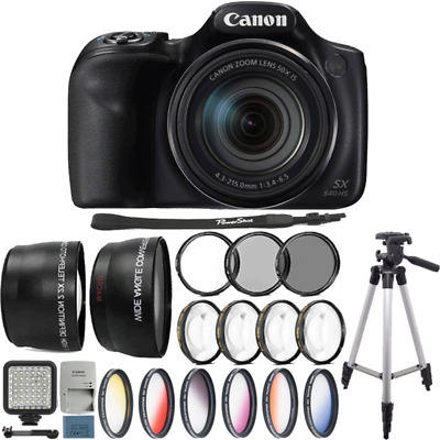 Canon Powershot SX540 HS 20.3MP Digital Camera with Deluxe Accessory K
