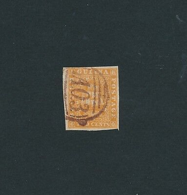 British Guiana #19, missing the perfs - Postmark A03  - Georgetown